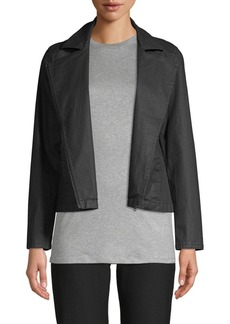 Eileen Fisher Waxed Cotton Moto Jacket