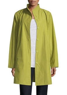 Eileen Fisher Weather-Resistant Snap-Front Coat