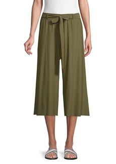 Eileen Fisher Wide Crop Self-Tie Pants