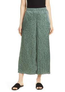 Eileen Fisher Wide-Leg Crop Silk Blend Pants