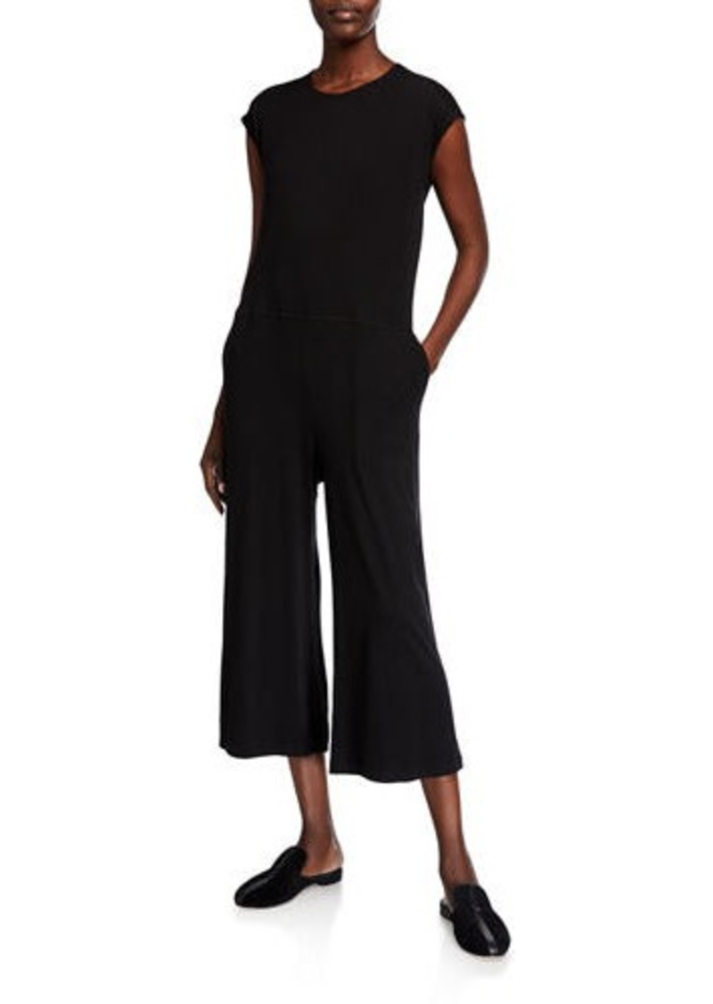 Eileen Fisher Wide Leg Jersey Jumpsuit