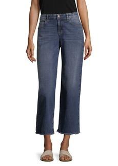 Eileen Fisher Wide Leg Raw Edge Jeans