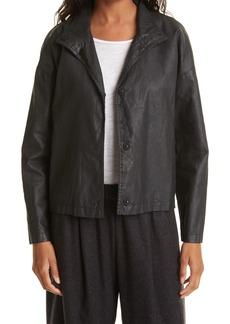 Women's Eileen Fisher Organic Cotton & Linen Jacket