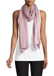 Eileen Fisher Wool & Silk Grid Scarf