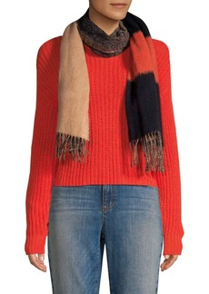 Eileen Fisher Wool-Blend Colorblocked Scarf