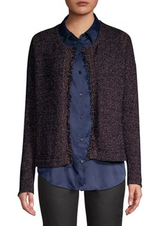 Eileen Fisher Wool-Blend Fringe Cardigan