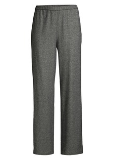 Eileen Fisher Wool-Blend Twill Pants