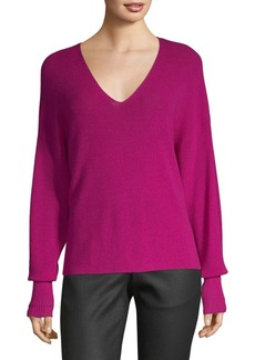 Eileen Fisher Wool V-Neck Knit Pullover