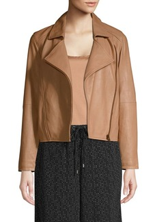 Eileen Fisher Zip-Up Moto Jacket