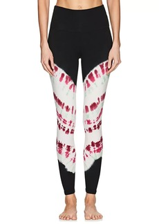 Electric & Rose Women's Sunset Tie-Dyed Cotton Leggings