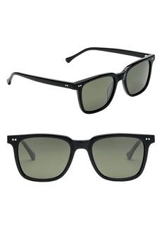 ELECTRIC Birch 53mm Polarized Square Sunglasses