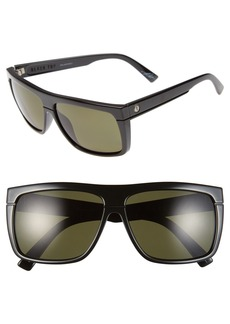 ELECTRIC 'Black Top' 60mm Polarized Flat Top Sunglasses