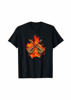Electric Guitar Musician - E-Guitar Flames Rock Guitarist T-Shirt