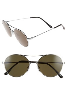 ELECTRIC 'Huxley' 53mm Round Sunglasses