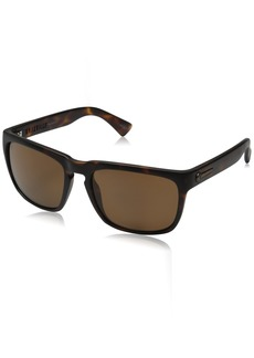 Electric Men's Knoxville Wayfarer Sunglasses Matte Tort-Ohm Polarized Bronze 47 mm