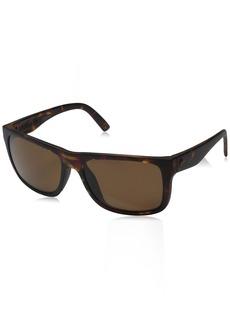 Electric Swingarm S Polarized Rectangular Sunglasses Matte TORT