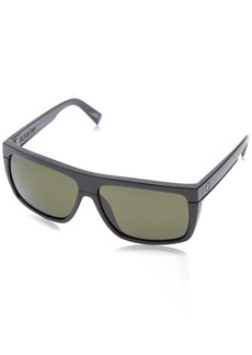 Electric Visual Black Top Gloss Black Polarized Grey Sunglasses