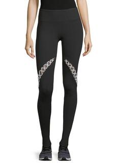 Electric Crisscross-Paneled Leggings