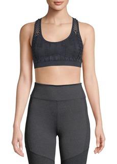 Electric Open-Knit Sports Bra
