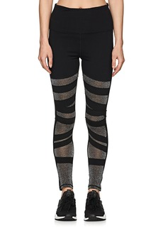 "Electric Yoga Women's ""Diamond"" Glittered-Inset Leggings"