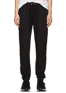 Electric Yoga Women's Grommet-Embellished Terry Drawstring Pants