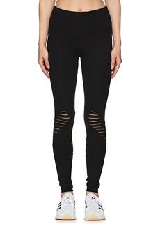Electric Yoga Women's Striped-Mesh-Inset Leggings