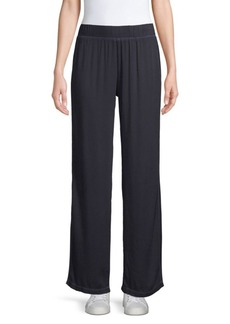 Electric Essex Satin Wide-Leg Track Pants