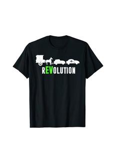 Funny Electric Vehicle rEVolution EV Driver T-Shirt