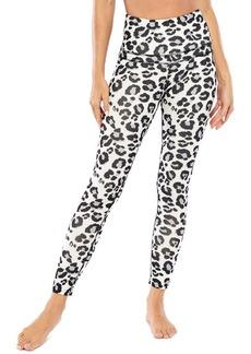 Electric Leopard-Print High-Rise Leggings