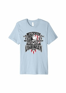 Electric Lineman T-Shirt American Flag Lineworker