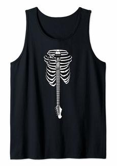 Music Rib Cage Skeleton Rock Star - Electric Guitar Tank Top