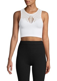 Electric Ribbed Cropped Top