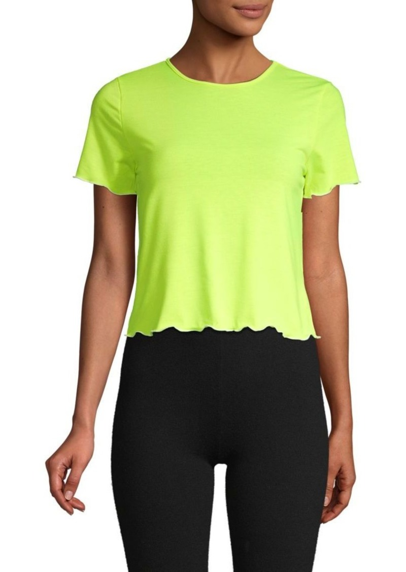 Electric Short-Sleeve Cropped Tee