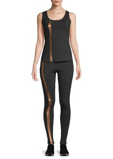 Electric Two-Piece Linear Tank Top and Leggings