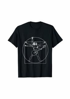 Electric Vitruvian Man Guitar Father's Day Perfect Gift Idea T-Shirt
