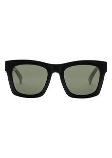Women's Electric Crasher 54mm Polarized Square Sunglasses - Gloss Black/ Grey
