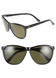 Women's Electric 'Encelia' 62mm Polarized Sunglasses - Gloss Black/ Grey Polar