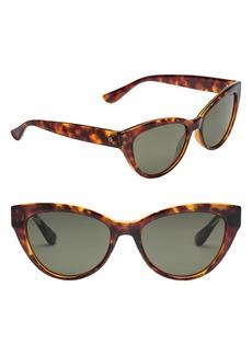 Women's Electric Indio 58mm Polarized Cat Eye Sunglasses - Gloss Tort/ Grey