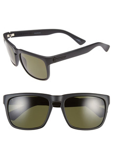 Women's Electric 'Knoxville' 56mm Polarized Sunglasses - Matte Black/ Grey Polar