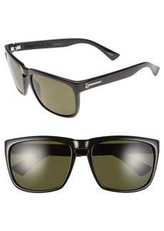 Women's Electric 'Knoxville Xl' 61mm Polarized Sunglasses - Gloss Black/ Grey Polar