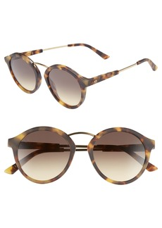 Women's Electric Mix Tape 52mm Mirrored Round Sunglasses - Matte Tortoise/ Black Gradient