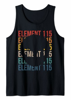 Cool Alien Gift Area 51 Element 115 Retro Conspiracy Theory Tank Top