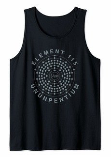 Element 115 Ununpentium Electron Shell Area 51 Alien UFO Tank Top