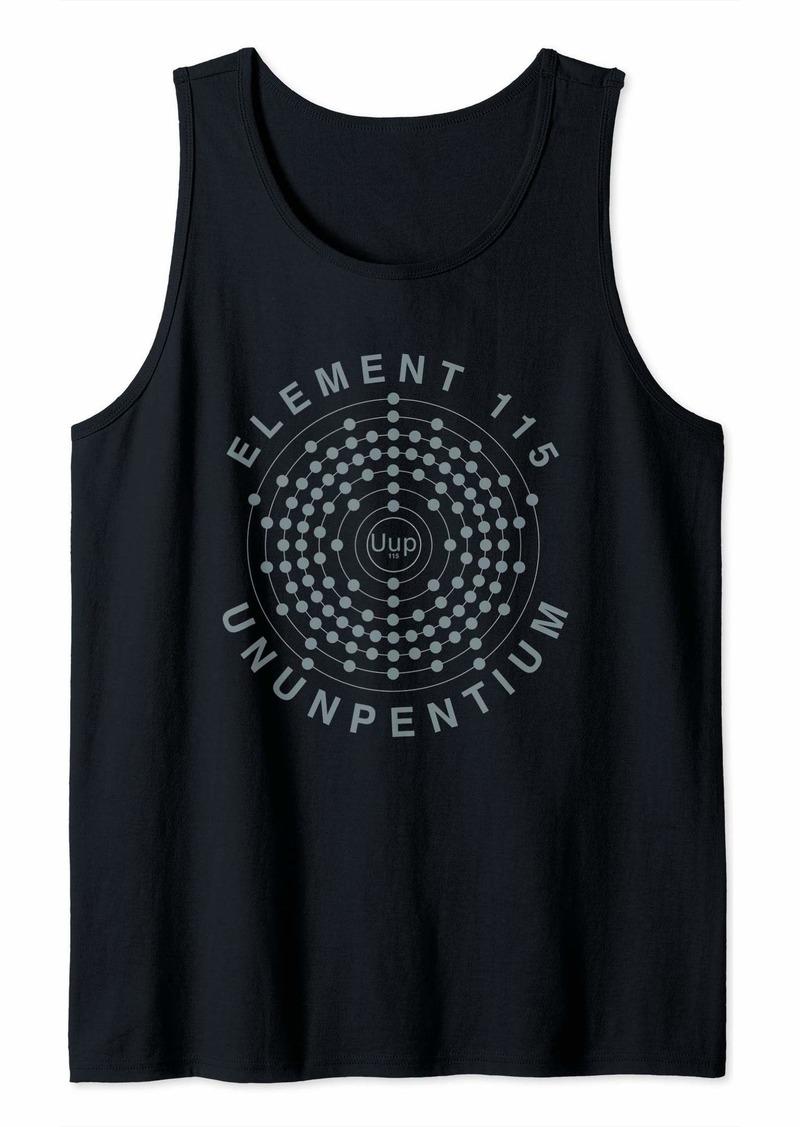 Element 115 Ununpentium Electron Shell Area 51 Alien UFO Tank Top