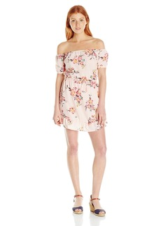 Element Juniors Degrees Floral Off the Shoulder Dress