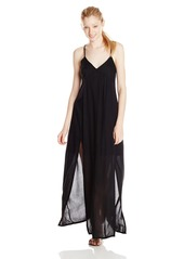 Element Juniors Jessamyn Printed Maxi Dress with Front Slits and Back Lace Detail