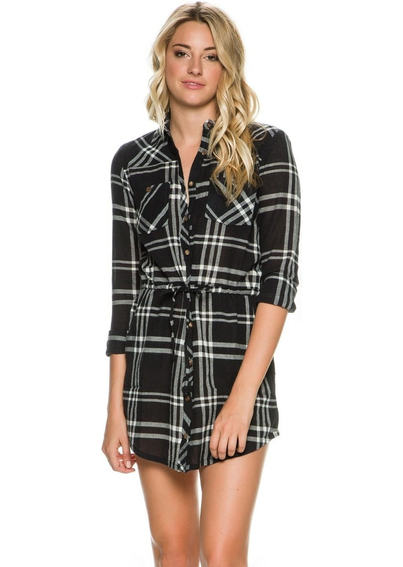 Element Juniors Madly Plaid Woven Dress Off