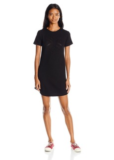 Element Juniors Ny Minute Short Sleeve Thermal Sweater Dress