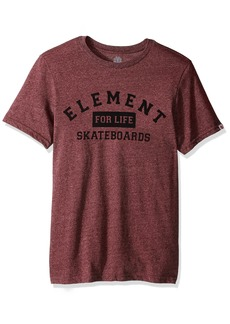 Element Men's Logo T-Shirt Solid Colors for Life Oxblood Red
