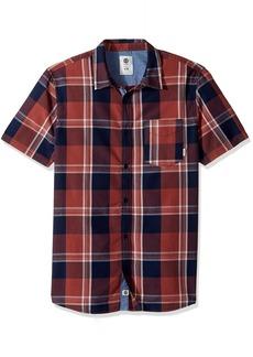 Element Men's Deschutes Yarn-Dyed Check Short Sleeve Woven Shirt